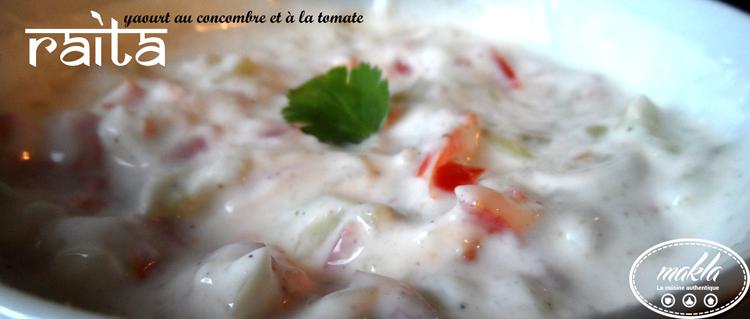 Raïta | Yaourt au concombre et à la tomate