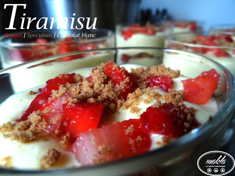 Tiramisu | Fraises – Speculoos – Chocolat blanc
