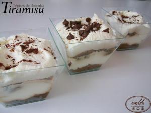 Tiramisu aux pépites de chocolat (sans oeufs)
