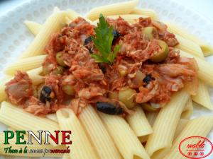 Penne au thon et à la sauce provençale
