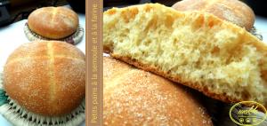 Petits pains à la semoule et à la farine