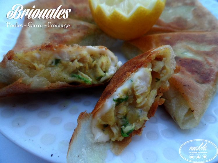 Briouates | Poulet – Curry – Fromage