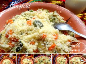 Amaqfoul – Couscous aux légumes vapeur
