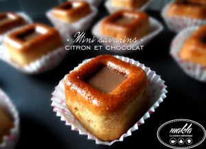 Mini savarins | Citron – Chocolat