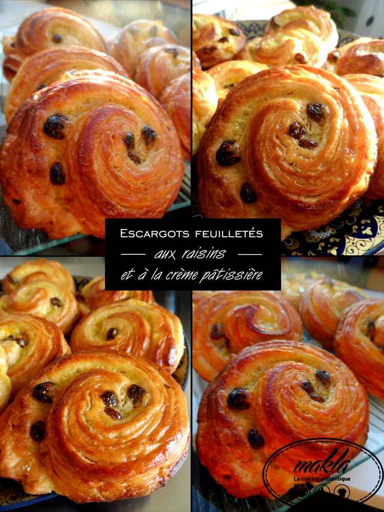 Read more about the article Escargots feuilletés aux raisins et à la crème pâtissière