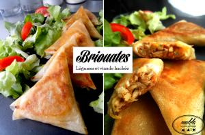 Briouates | Légumes râpés – Viande hachée