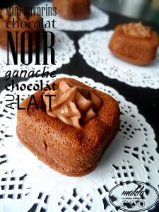 Mini-savarins | Chocolat noir – Ganache chocolat au lait