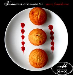 Read more about the article Financiers | Amandes – Coeur de framboise