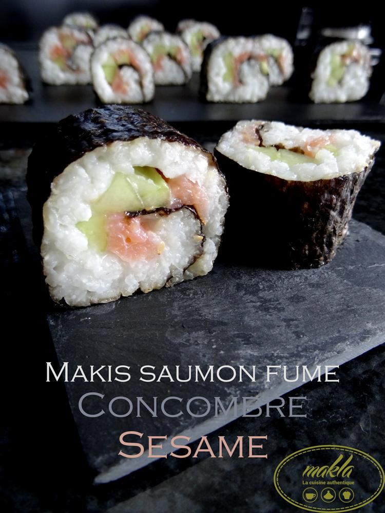 Read more about the article Makis | Saumon fumé – Concombre – Sésame