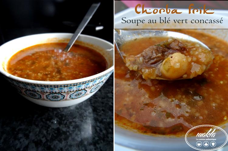 Chorba frik – Soupe algérienne au blé vert concassé