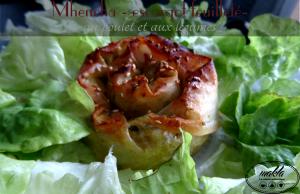 Mini mhancha – Escargot feuilleté au poulet et aux légumes
