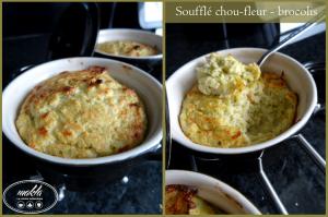 Soufflé chou-fleur et brocolis