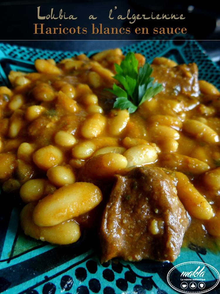 Loubiya à l'algérienne – Haricots blancs en sauce