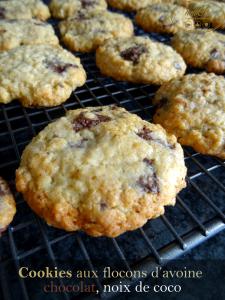 Read more about the article Cookies aux flocons d'avoine, chocolat et coco
