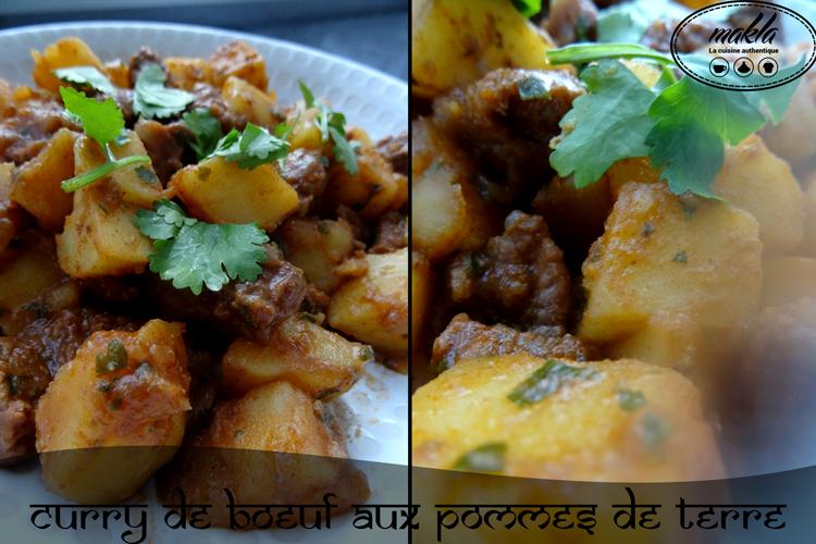 Curry de bœuf aux pommes de terre