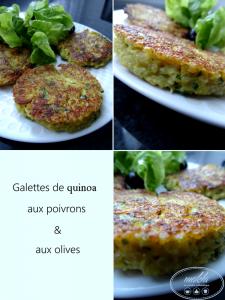Galettes de quinoa aux poivrons et aux olives