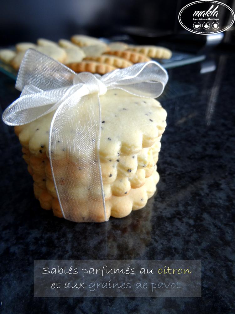Read more about the article Sablés parfumés au citron et au pavot