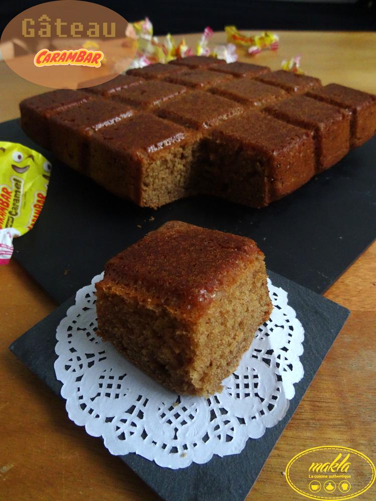 Gâteau Carambar