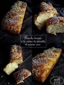 Read more about the article Brioche tressée à la crème de noisette et aux raisins secs