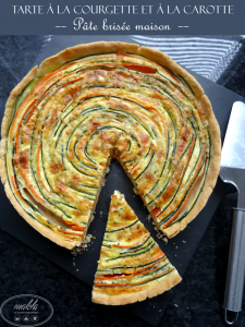 Tarte à la courgette et à la carotte | Pâte brisée maison