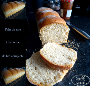 Pain de mie à la farine de blé complète