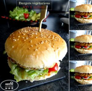 Burgers végétariens 100 % maison