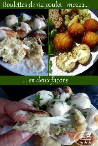 Boulettes | Croquettes de riz au poulet