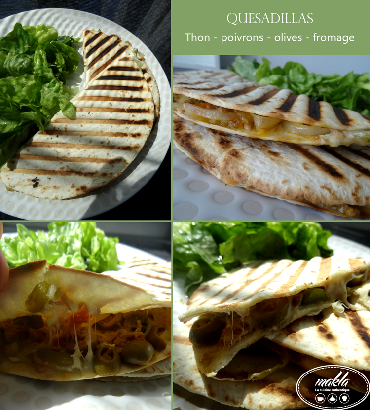 Quesadillas   Thon – Poivrons – Fromage