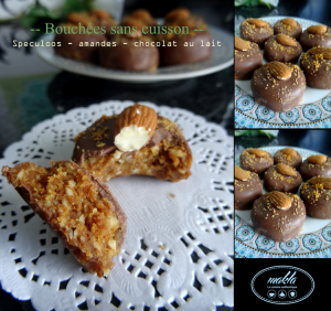 Bouchées sans cuisson | Speculoos – Amandes – Chocolat au lait