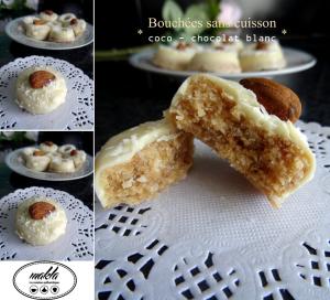 Bouchées sans cuisson | Noix de coco – Chocolat blanc