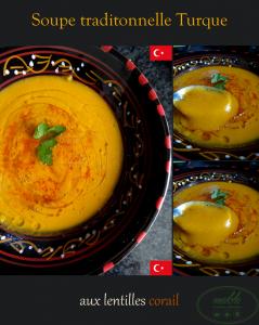 Soupe traditionnelle turque aux lentilles corail
