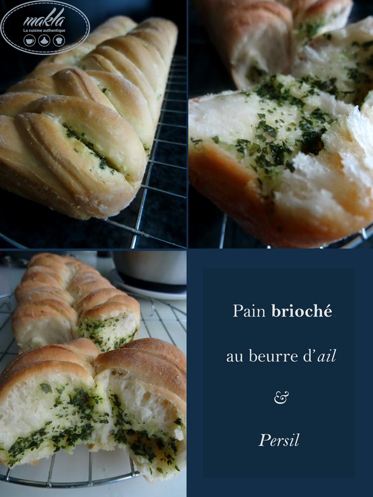 Pain brioché au beurre d'ail et au persil