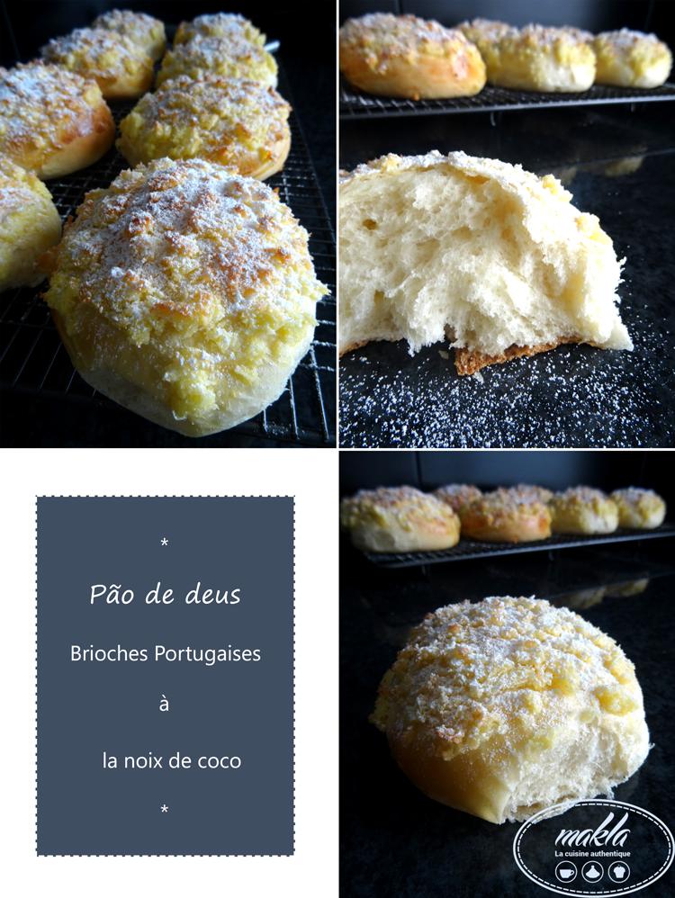 Pão de Deus – Brioches portugaises à la noix de coco