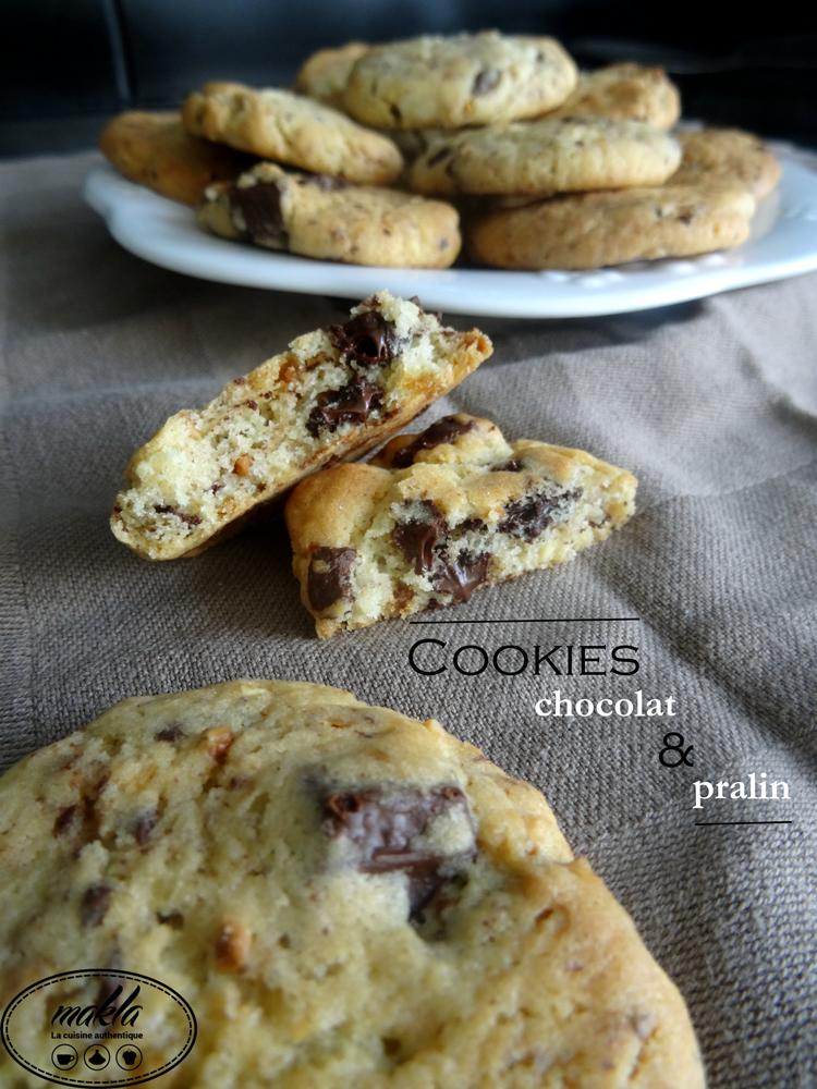 Read more about the article Cookies au pralin et aux pépites de chocolat
