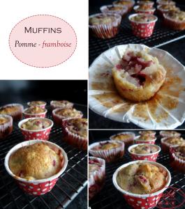Muffins aux pommes et aux framboises