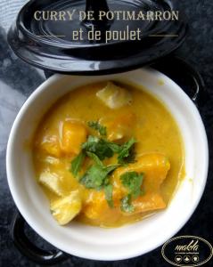 Read more about the article 1 légume, 2 recettes | Curry de potimarron et de poulet