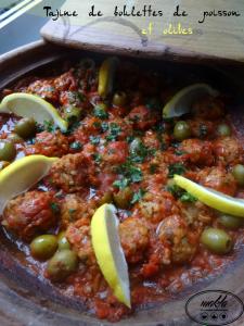 Tajine de boulettes de poisson et olives