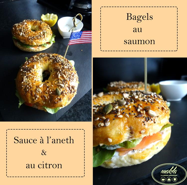 Bagels   Saumon – Sauce citronnée