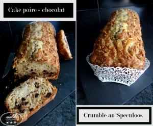 Cake poire – chocolat et son crumble au Speculoos