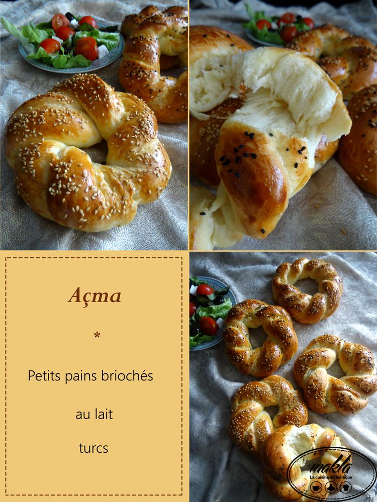 Açma – Petits pains briochés au lait turcs