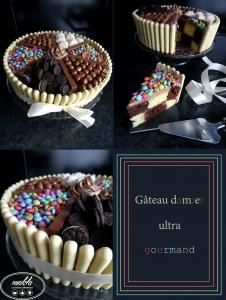 Gâteau damier pour les gourmands