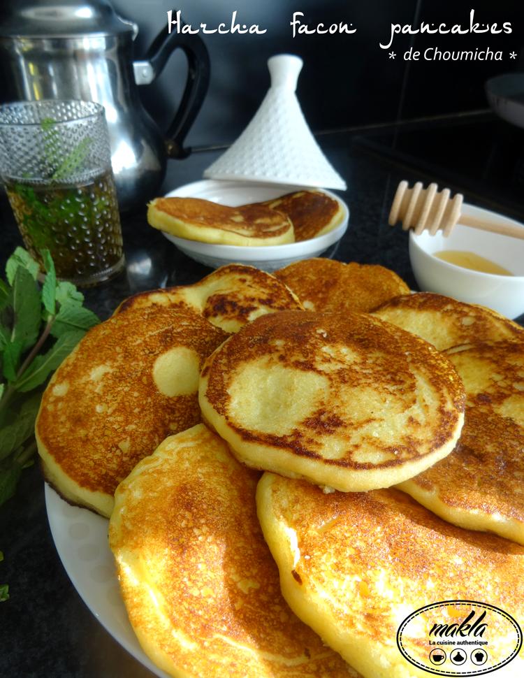 Harcha façon pancakes de Choumicha