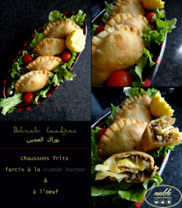 Bourek laadjine – Chausson frit farci à l'oeuf et à la viande hachée