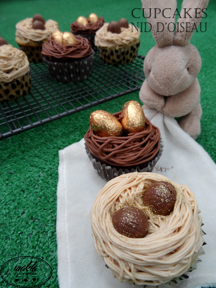 Cupcakes nid d'oiseau