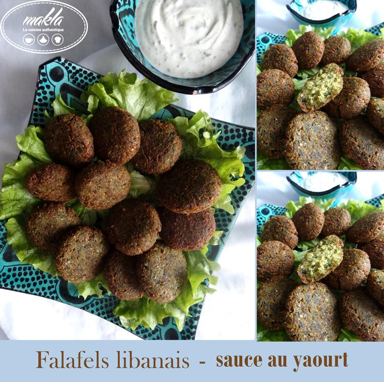 Falafels libanais | Sauce au yaourt