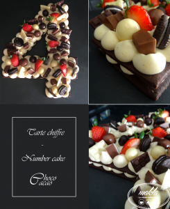Tarte chiffre – Number cake Choco Cacao