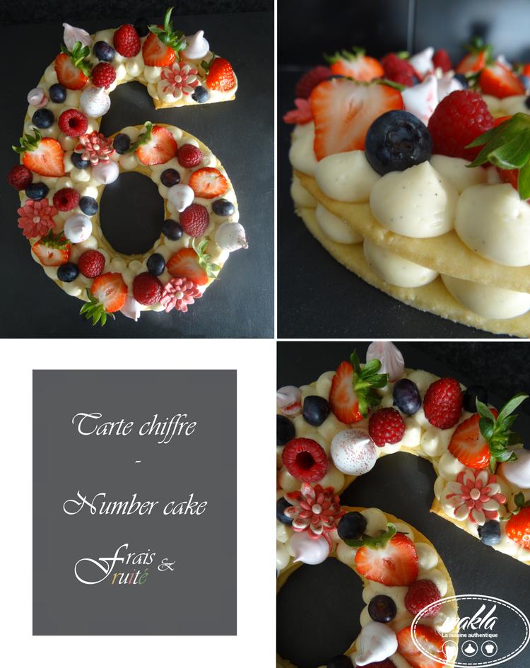 Tarte chiffre – Number cake frais et fruité