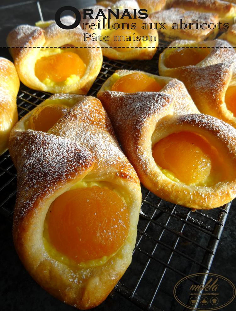 Oranais – Oreillons aux abricots et à la crème pâtissière | Pâte maison