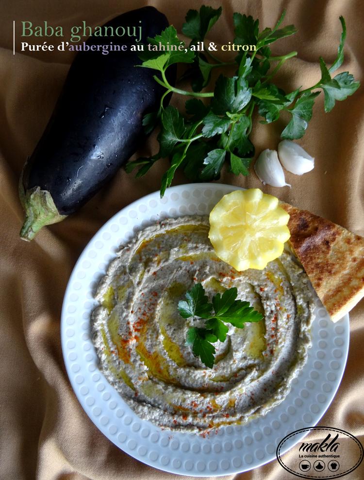 Baba ghanouj – Purée d'aubergine au tahiné, ail et citron