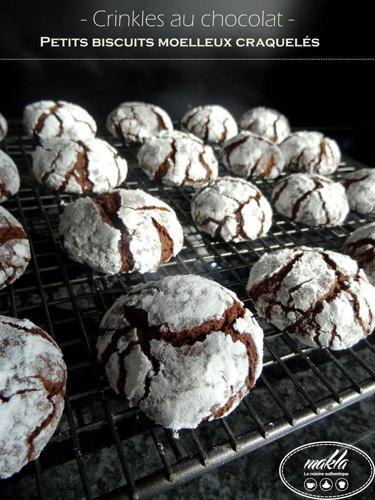 Read more about the article Crinkles au chocolat | Petits biscuits fondants et moelleux craquelés